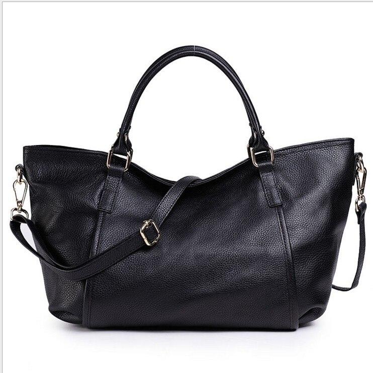 2019 été femmes sac à main en cuir véritable fourre-tout sac à bandoulière seau dames sac à main occasionnel femmes de NATURA capacité fourre-tout Bolsos