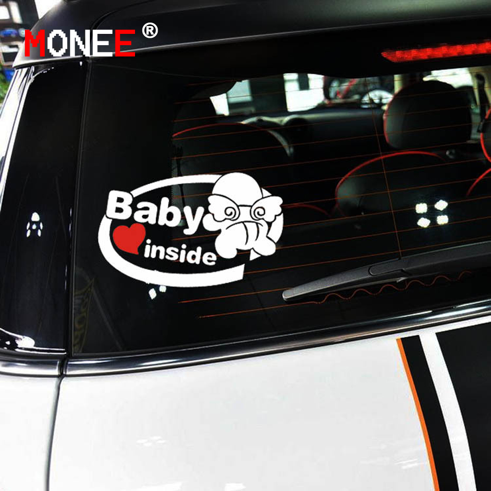 Cm Cute D Baby Inside Car Stickers Car Styling Vinyl Decal - Decal stickers for cars