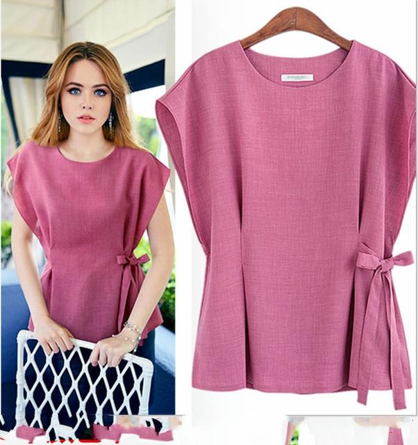 new summer 2016 fashion Europe women shirt plus size slim thin cotton casual female shirt elegant blouse hot sale  tops 85i 25