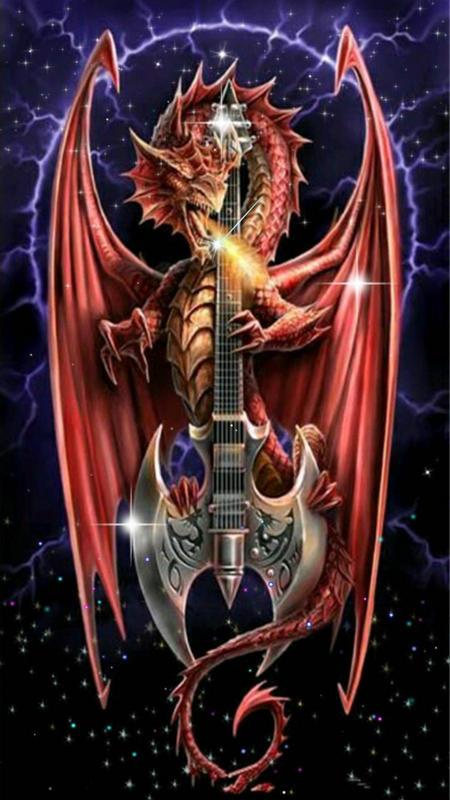 Вышивка красного дракона