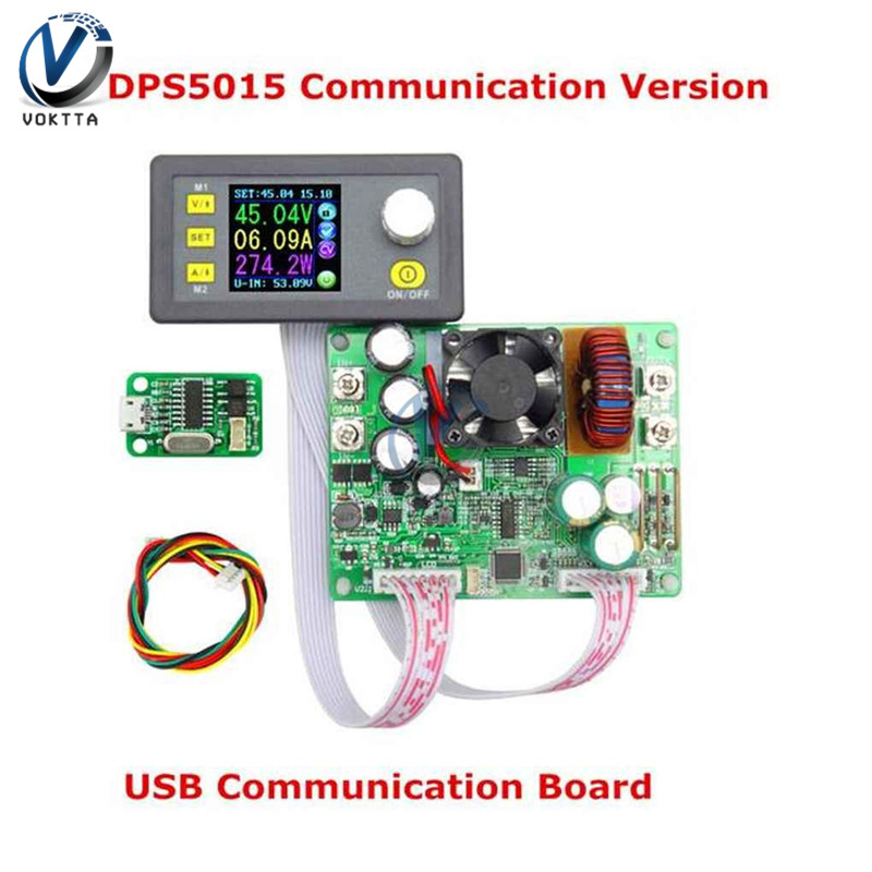 DPS5015 LCD Voltmeter 50V 15A Current Voltage Tester Step-down Programmable Power Supply Module Regulator Converter