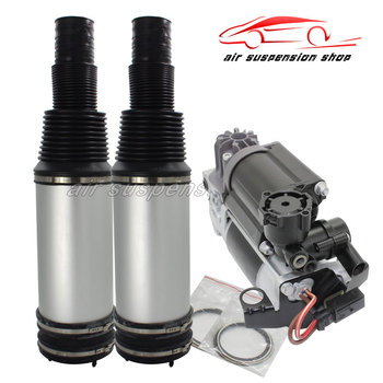 1 Set Air Suspension Shock Rear Left Right Air Spring Bag w/ Gas Shock Compressor Pump for Mercedes-Benz W220 S-Class 2203205013