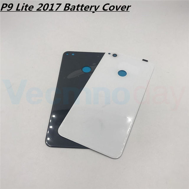 Vecmnoday New For Huawei P9 lite 2017 PRA-LX1 PRA-LX3 Battery Cover Door Housing Case Rear Glass Replacement Repair Parts