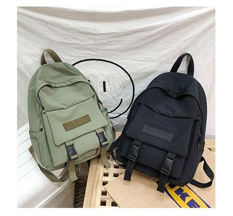 HTB1HOaUXEY1gK0jSZFCq6AwqXXaq 2019 Backpack Women Backpack Fashion Women Shoulder Bag solid color School Bag For Teenage Girl Children Backpacks Travel Bag