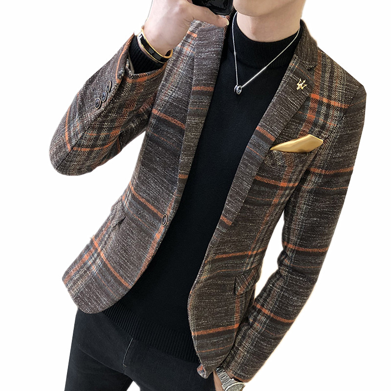 Luxury Tulip Gold Bronzing Tuxedo Suit Blazer Men One Button Slim Fit Wedding Groom Blazers Mens