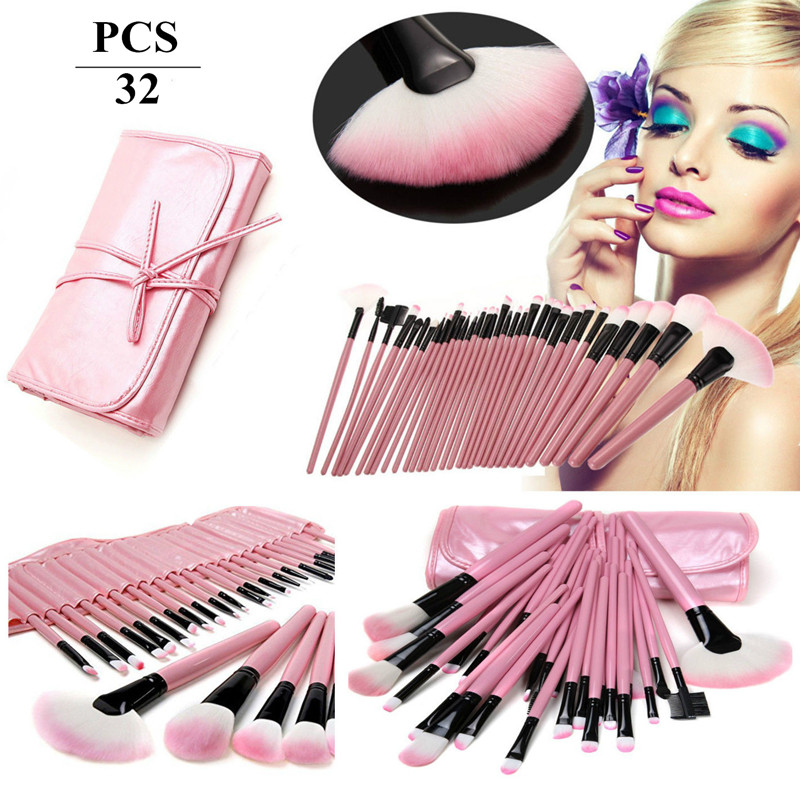 New Professional 32 Pcs Makeup Brush Set Make Up Toiletry Kit Wool Brand Make Up Brush