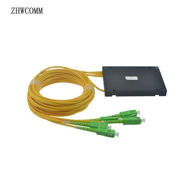 ZHWCOMM SC APC PLC 1X4 מצב יחיד סיבים אופטי ספליטר FTTH אופטי מצמד ספליטר