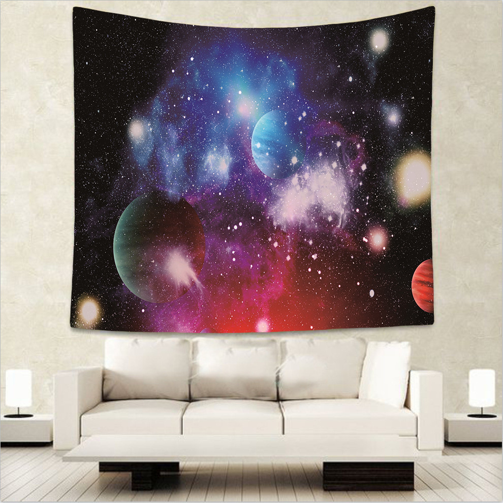 Wonderful Galaxy kids room decorative tapestry hippie mandala wall hanging Bohemian bedspread dorm decor tapestries 51x60 GA17