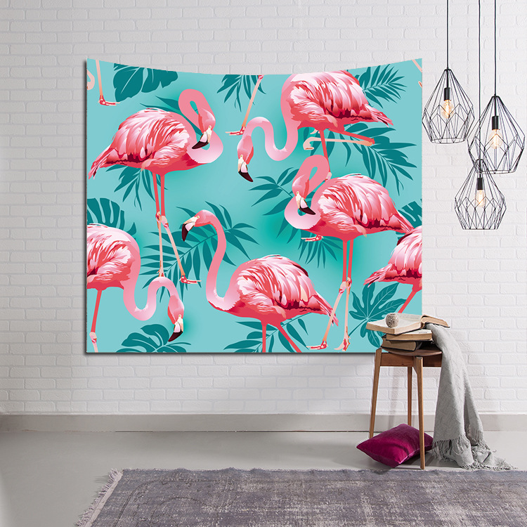 230*150cm Tropical Leaf Flamingo Pattern Wall Art Hanging Tapestry Decorative Sofa Chair Cover Fashion Beach Towel Table Cloth