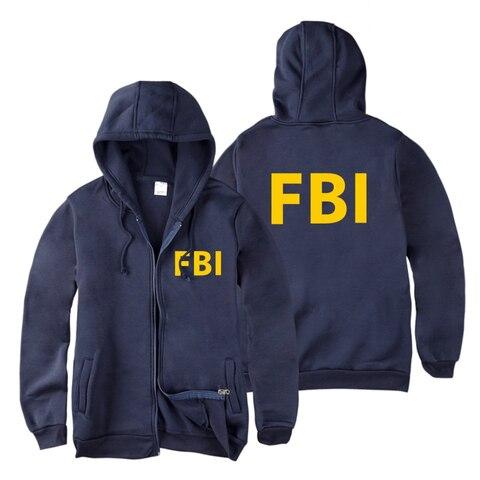 fashion Zipper Men women Hoodies Sweatshirts FBI Print sport hip hop Casual Zip Up Unisex Long Sleeve hoodie jacket coat top 4XL Pakistan