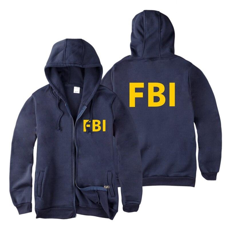 fashion Zipper Men women Hoodies Sweatshirts FBI Print sport hip hop Casual Zip Up Unisex Long Sleeve hoodie jacket coat top 4XL