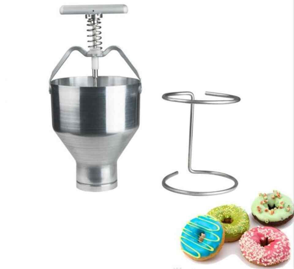 Manual de imprensa da mão mini máquina de rosca de Aço Inoxidável Handheld Anel Donut Bolo Rosquinha Dispenser máquina de Donut