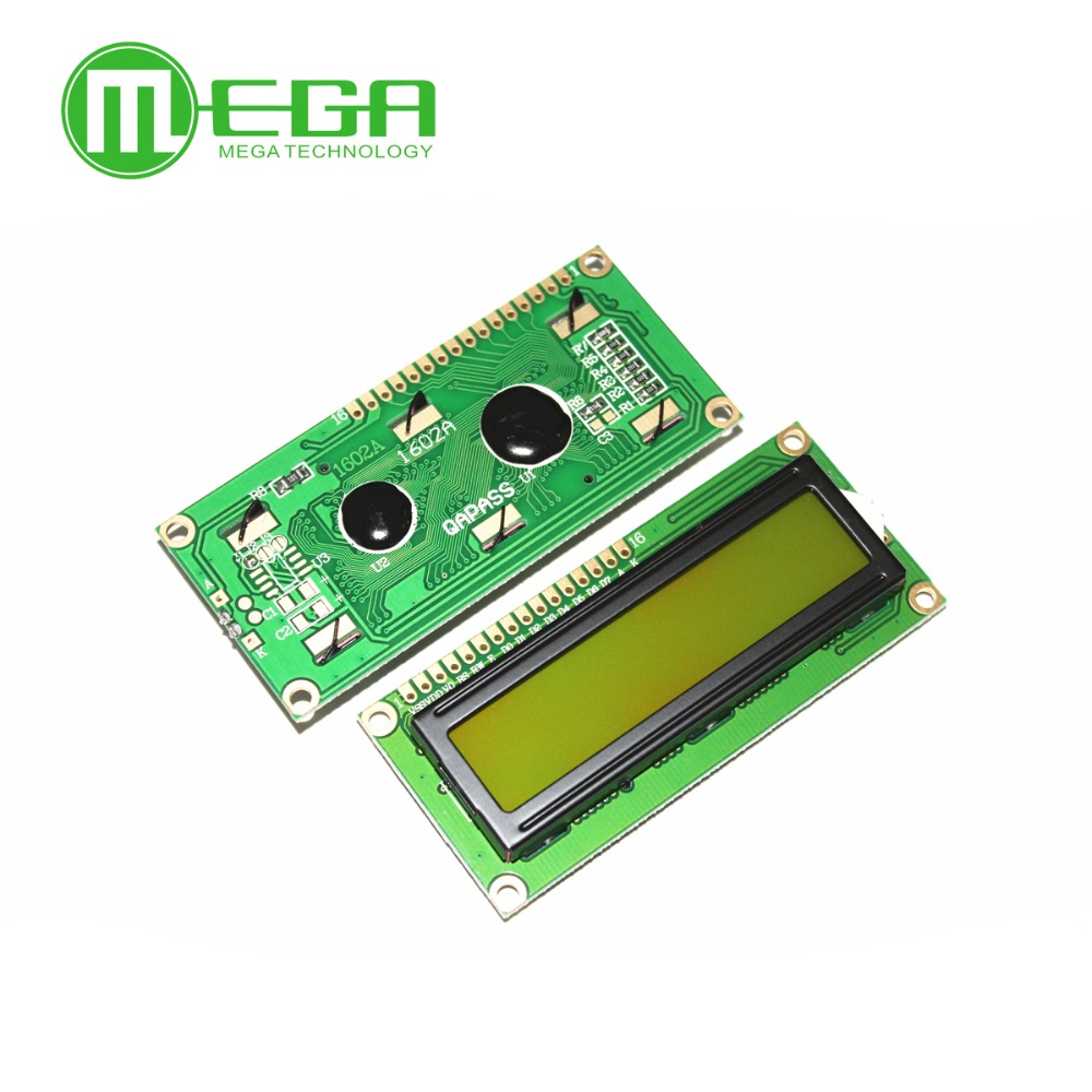 LCD1602 1602 Module Blue/Yellow Green Screen <font><b>16x2</b></font> Character <font><b>LCD</b></font> <font><b>Display</b></font> Module image