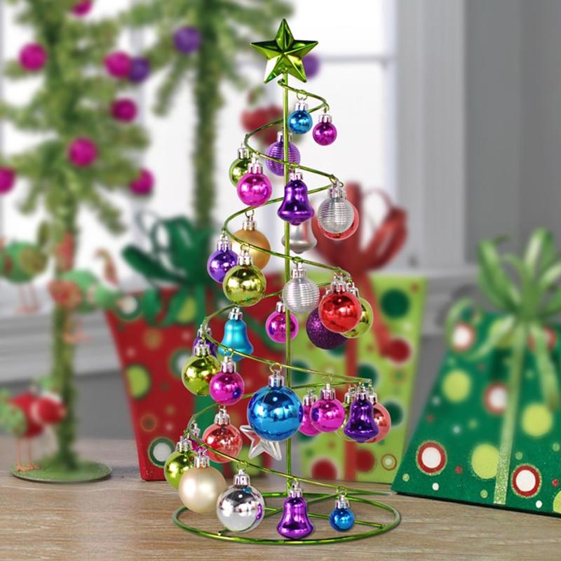 Decoraciones para rboles de navidad hierro continental for Adornos de navidad para oficina
