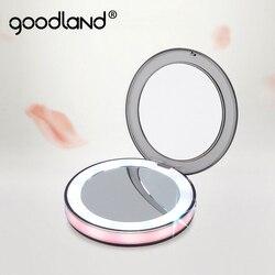 LED Espelho de Maquilhagem com Luz Lâmpada Touch Sensor de luz Vaidade 1X 3X Ampliar USB Portátil Recarregável Lâmpada de luz de Fundo em Espelho