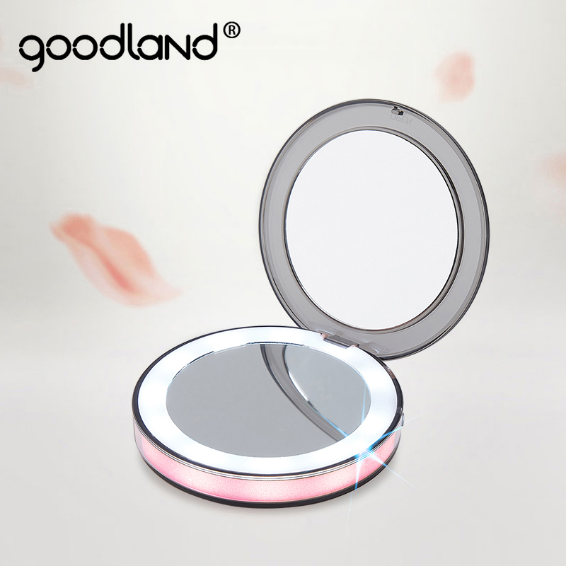LED Makeup Mirror With Light Bulb Touch Sensor Vanity Light Portable 1X 3X Magnify USB Rechargeable Backlight Lamp On Mirror