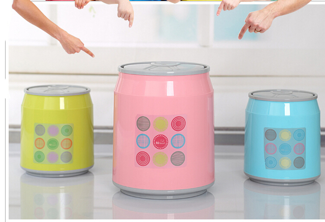 2018Creative push Mini Desktop Storage trash barrels plastic ...