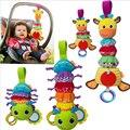 Lagartas de Som Bebê Pendurado Chocalhos com Mordedores Infantino Torção Multifuncional Carro Cama Pendurar Brinquedo Do Bebê Musical Bug