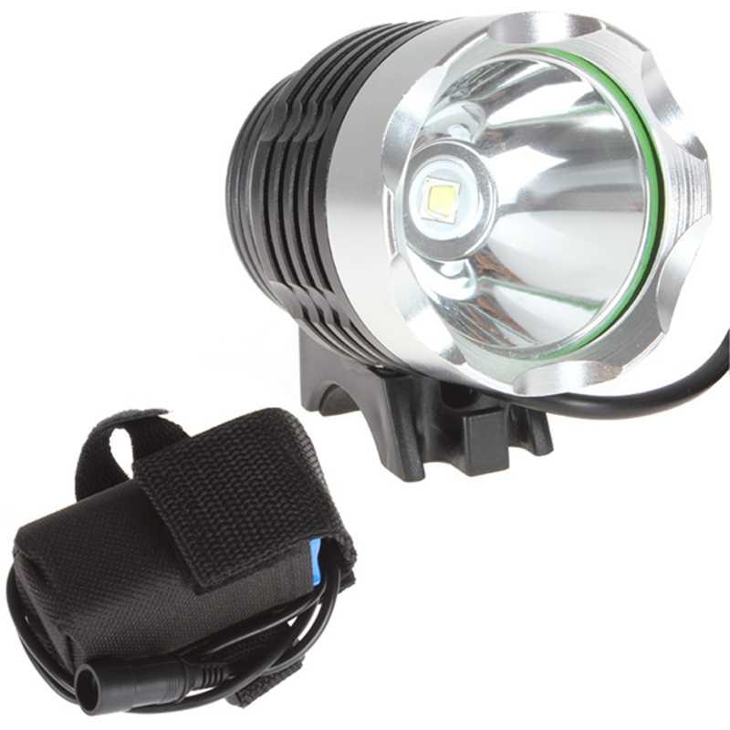 1800 Lumen CREE XM-L T6 <font><b>LED</b></font> Bicycle Bike Headlamp HeadLight Lamp Flashlight Light with 6400mAh 8.4v battery & Charger
