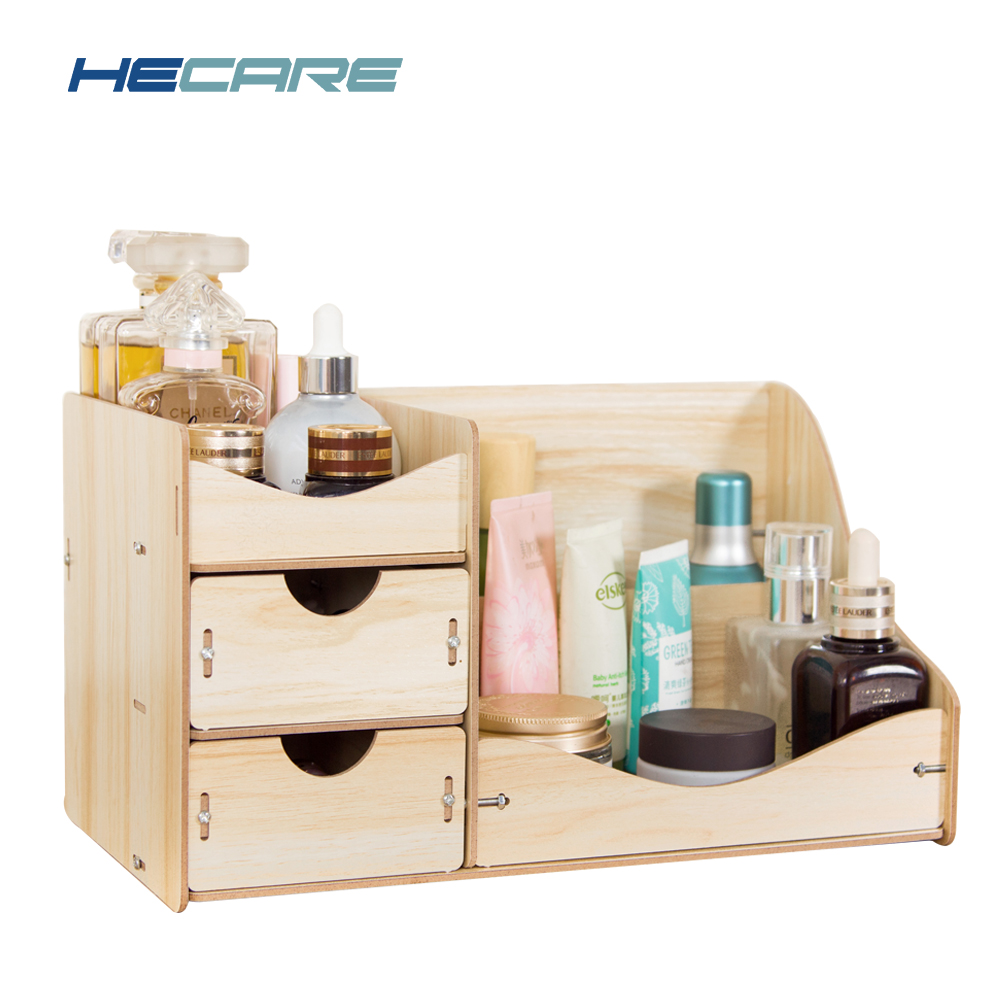 new wooden cosmetic organizer dropshipping home makeup. Black Bedroom Furniture Sets. Home Design Ideas