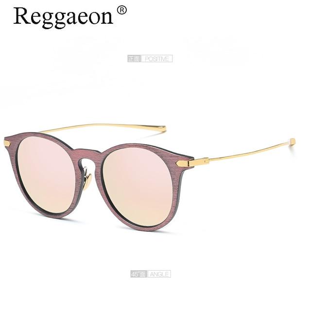 5501b5280f031 Reggaeon Super Deluxe de alta qualidade rodada quadro óculos de sol feminino  designer de imitação de