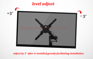 """Image 5 - NB F500 air press Gas spring dual Long arm50 60"""" 14 23kg full motion Monitor wall bracket LCD PLASMA tv mount lcd holder support"""