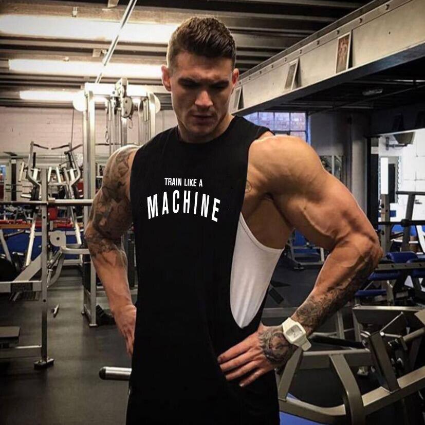 Summer 2018 Brand Clothes Singlets Mens   Tank     Tops   Sleeveless Shirt Bodybuilding Equipment Fitness Men's Stringer   Tank     Top