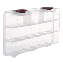 Durable 5 Compartments Transparent Visible Plastic Fishing Tackle Box Fishing Lure Storage Box Case 22.5 * 11.2 * 3.3cm