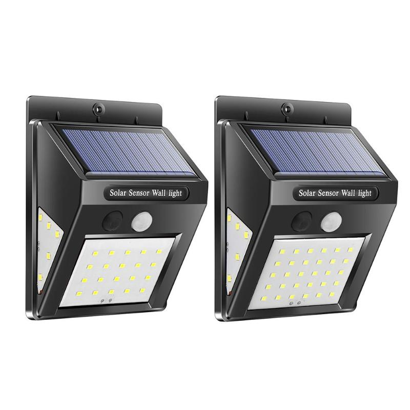 <font><b>30</b></font>/40LED <font><b>Solar</b></font> PIR Motion Sensor Wall Lamp Waterproof Garden Security Light image