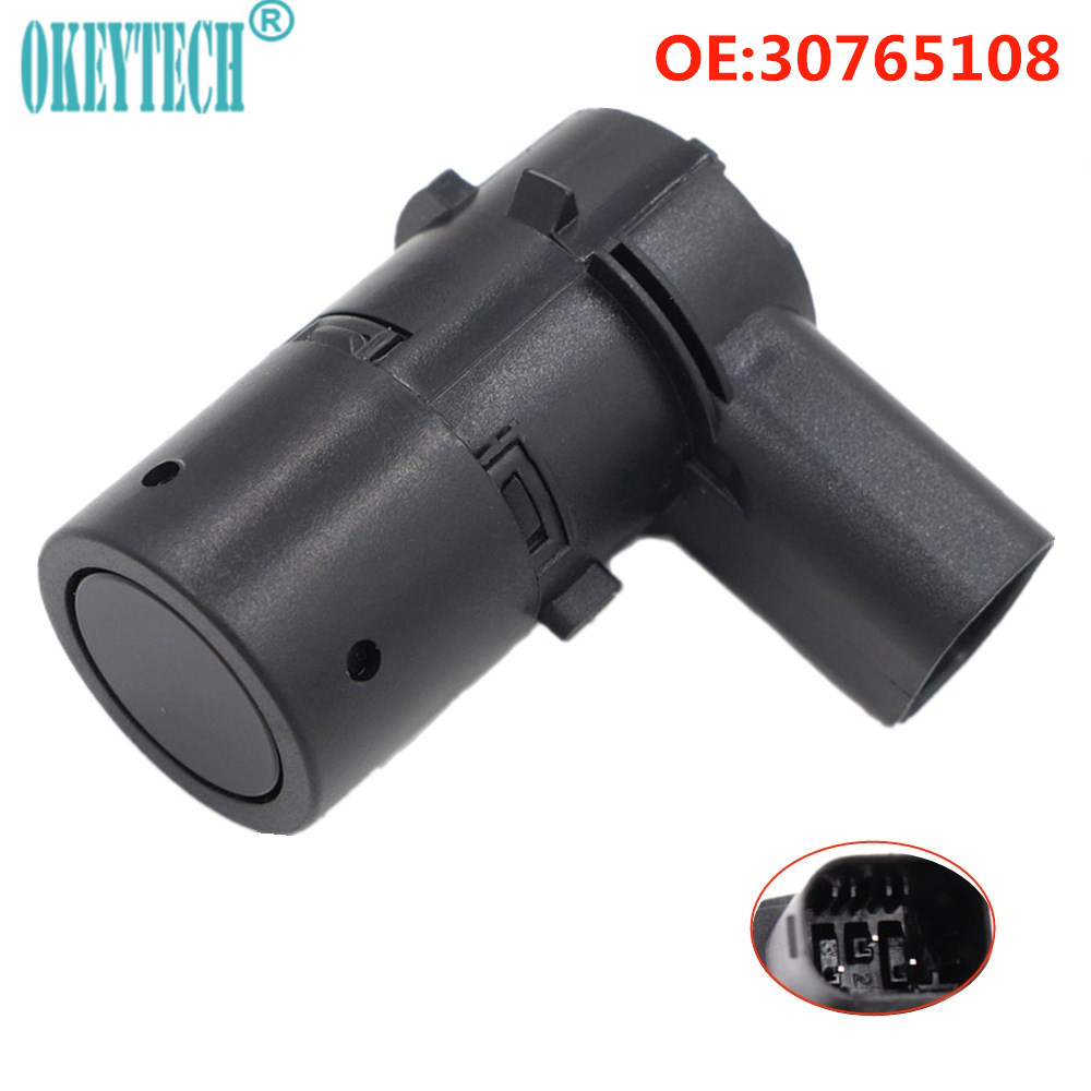 OkeyTech Parktronic PDC Parking Sensor 30765108 For Volvo S40 S60 S80 V50 V70 C70 XC70 XC90 Parking Assistance 30668099 30668100