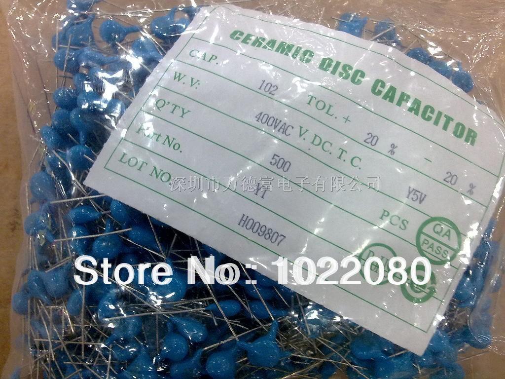 100 шт./лот керамические конденсаторы высокого напряжения 1KV103 0,01 мкФ 10000P 103PF 10NF шаг 5,08 мм синий конденсатор