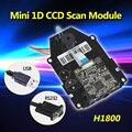 Frete Grátis! H1800 Sensor CCD Barcode Scanner 1D Mecanismo de Varredura de Código de Barras CCD de Digitalização Do Scanner Módulo OEM DIY Scan Engine 1D CCD