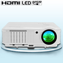 CAIWEI 4500 Lumens LCD LED Projector Home Cinema Projector Home Video Theater for Laptop Tablet Mobile Phone