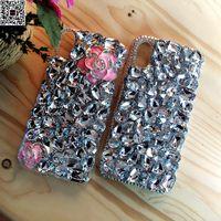 Note8 Luxus Mädchen Frau Dame Jeweled Pfau Diamant Fall Für Samsung Galaxy hinweis 8 5 4 3 2 S8 Plus S7 S6 Rand Handgemachten abdeckung