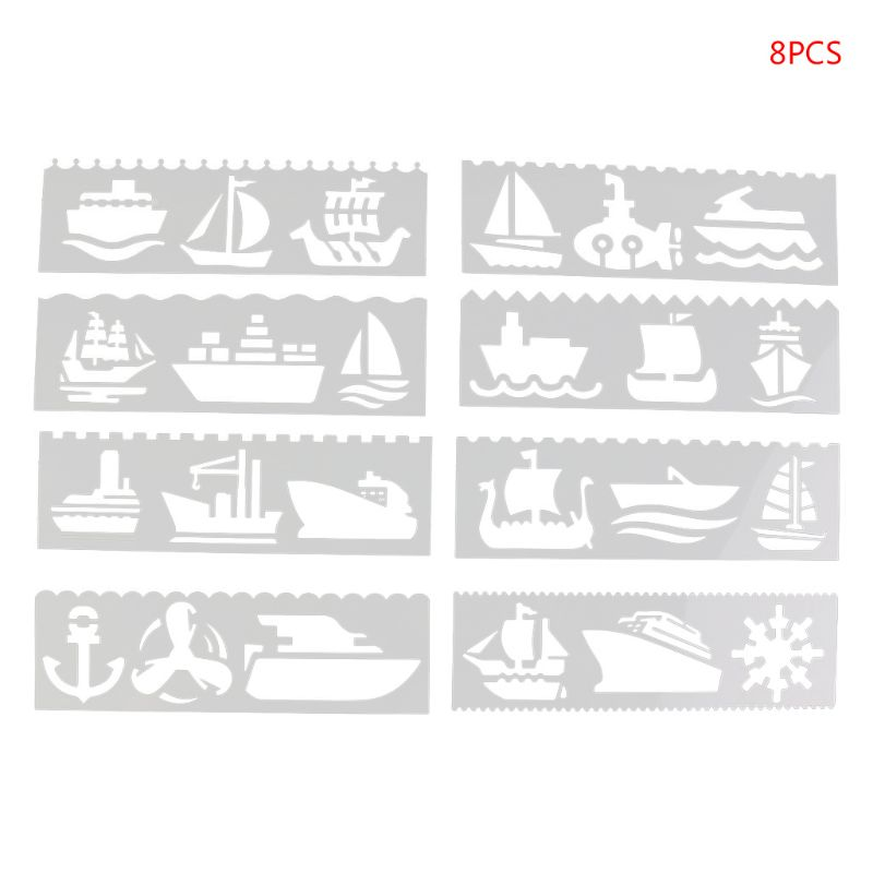 Christmas Stencils Paper Card Album Stamping Drawing Template Tool For Walls Painting Scrapbooking DIY