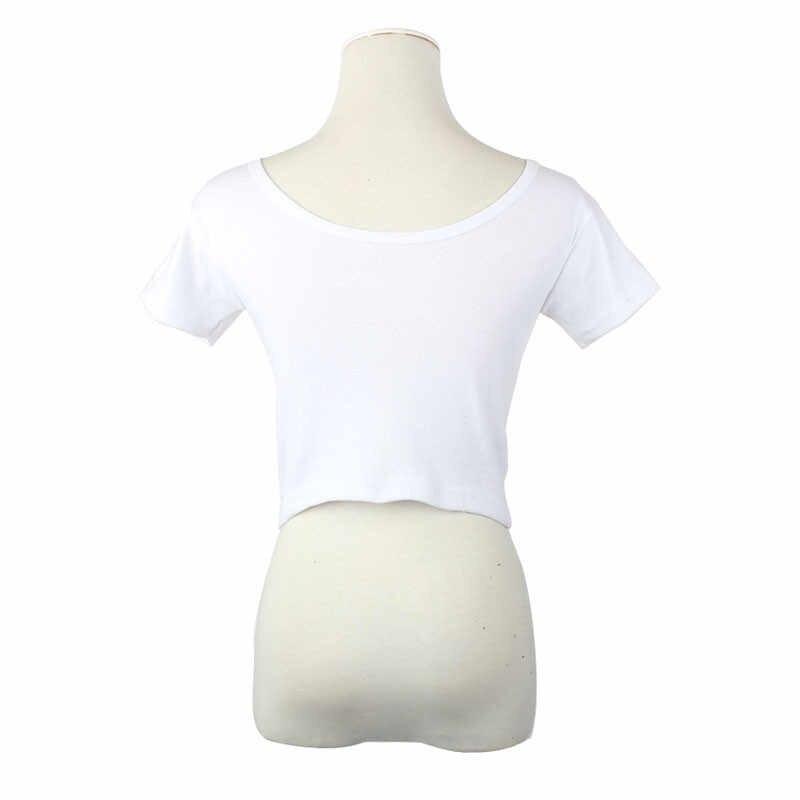 קיץ קצר שרוולים סקסי נשים בסיסי Tees חולצות קצוץ חולצה האופנה t חולצה הדוק טי קיץ רטרו כותנה חולצות עשוי 15