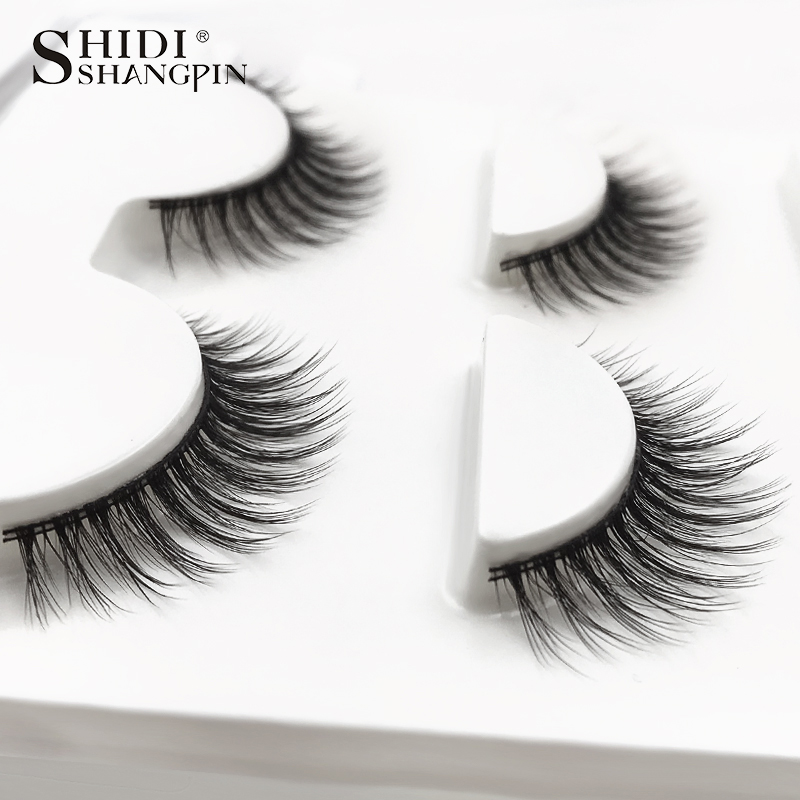 HTB1HOdkXNrvK1RjSszeq6yObFXa0 SHIDISHANGPIN 3 pairs mink eyelashes natural fake eye lashes make up handmade 3d mink lashes false lash volume eyelash extension