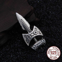 Real 925 Sterling Silver skyrim amulet of talos Pendant Nekclace with really leather as gift