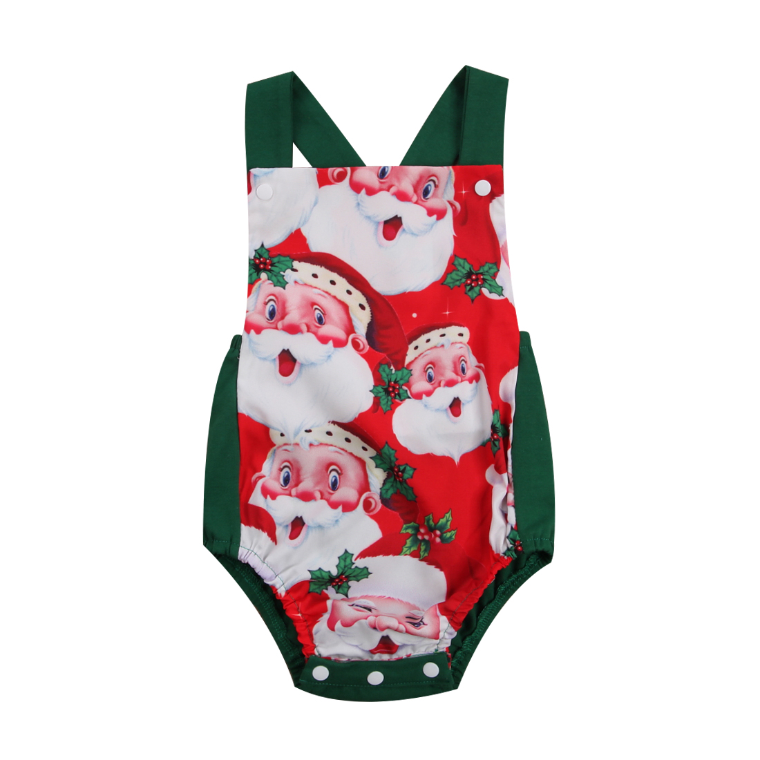 Brand New Newborn Infant Baby Boys Girl Christmas Bodysuit Christmas ...