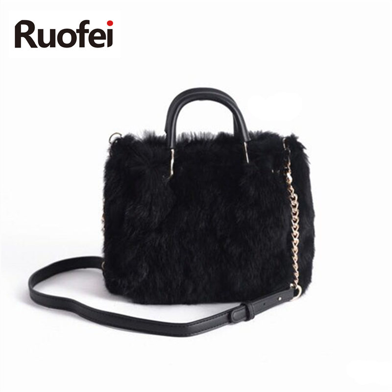 2018New Fashion Design Leather Fur Soft Real Leather Women Handbag Pieces Female Shoulder Bag Girls Messenger Bag Casual Women