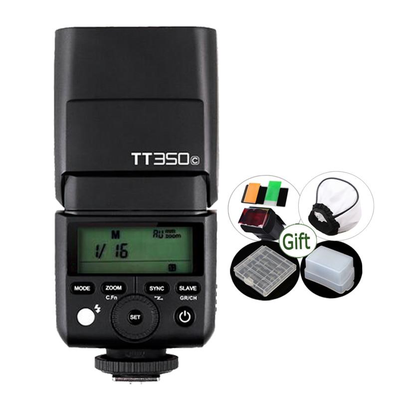 Mini Godox Speedlite TT350C TTL 2 4G Wireless X System HSS 1 8000s Flash for Canon