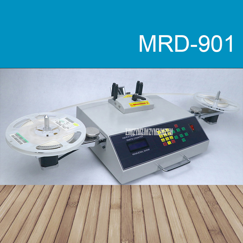MRD-901 LED Digital display Automatic SMT/SMD Chip Parts Counter Resistor Diode Triode IC Components Counting Machine 5-Digit Co jdm11 6h grey digit display electronic counter ac 220v dc 24v production counting