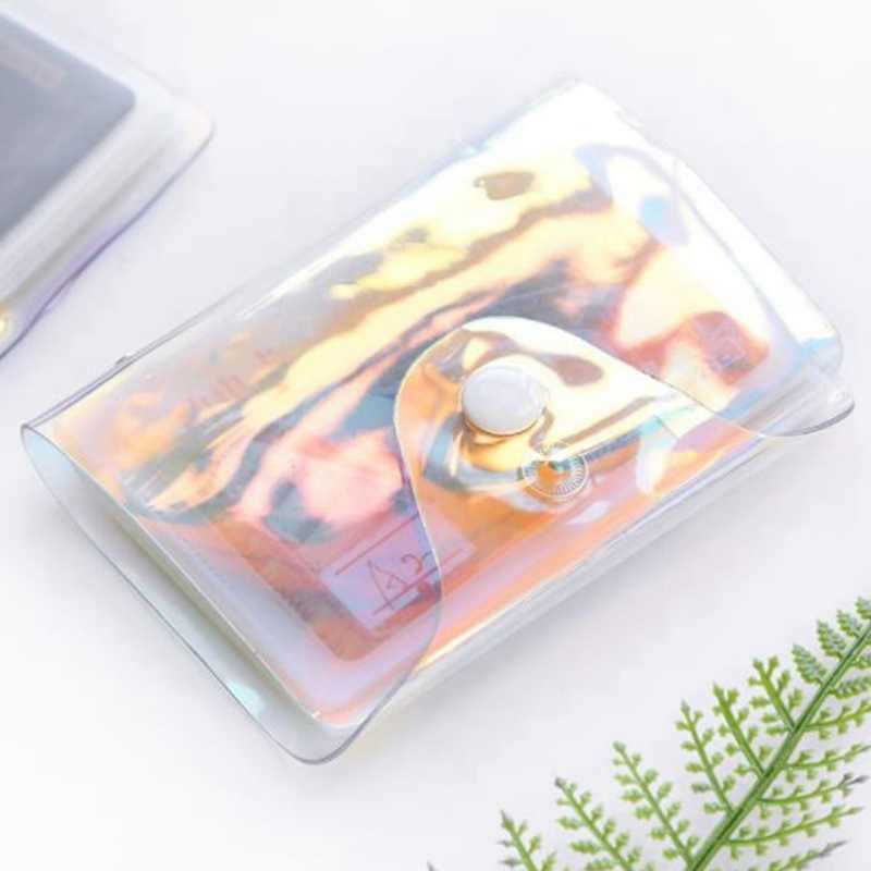 Mode Laser Transparent fonction 20 Bits Rfid ID carte bancaire étui d'affaires femmes hommes crédit passeport sac portefeuille sac à main