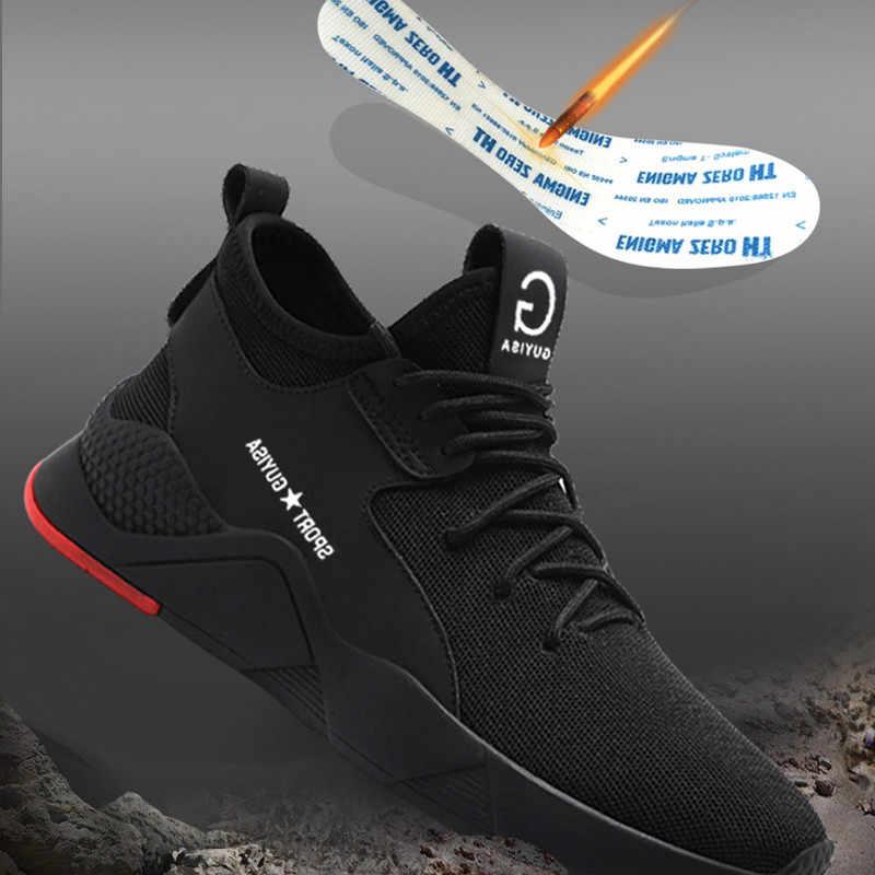 Erkek Çelik Ayak Iş Güvenliği Ayakkabıları Rahat Nefes Açık Ayakkabı Delinme Geçirmez Botlar Rahat Endüstriyel Ayakkabı Erkekler için