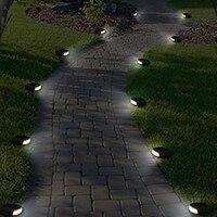 CLAITE Открытый водонепроницаемый светодиодный Солнечный сад каменные фонари белая лампа-фонарь уличного освещения для лужайки путь квадрат...