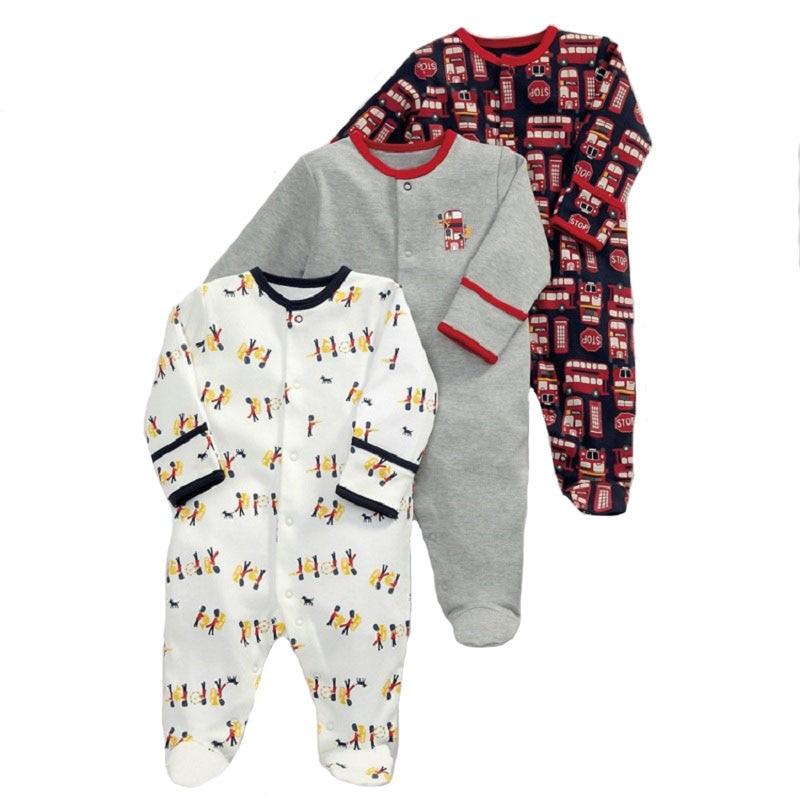 3Pcs Newborn Baby Girl Romper Winter Baby Boy Jumpsuit Clothes 100% Cotton Underwear Rompers Clothing Baby Rompers Warm Costume cobroo newborn baby romper winter 2018 100