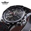 2016 Vencedor Silicone Relógio Para Homens Relógios Top Marca de Luxo Relógio Mecânico Relógio Dos Homens Militray Relógios de Pulso Relogio masculino