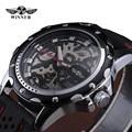 2016 Winner Silicone Watch For Men Watches Top Brand Luxury Mechanical Watch Men Clock Militray Wrist Watches Relogio Masculino