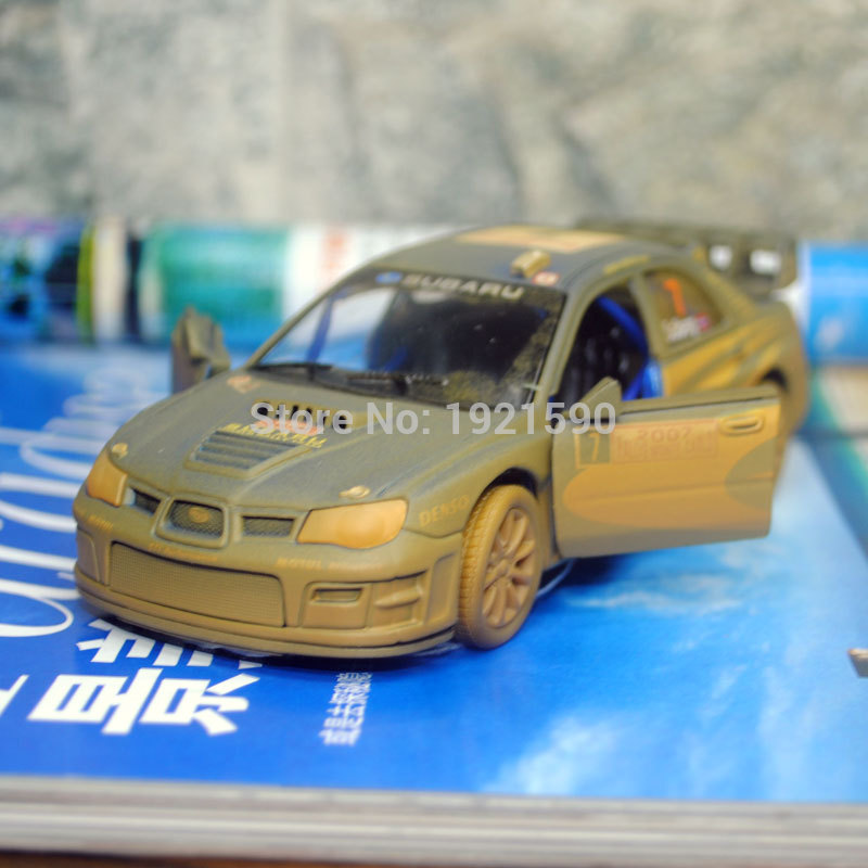 KT 1/36 Scale Racing Car Toys Muddy Edition Japan Subaru Impreza WRC 2007 Diecast Metal Pull Back Model Toy For Gift/Kids