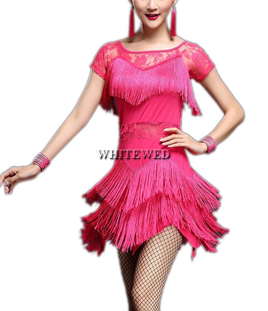 Frauen Fringe Lace Kurzarm Gatsby Salsa Tango Jazz Gatsby Inspiriert ...